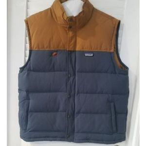 Patagonia Vest Duck Down Blueish Gray Mustard Brew